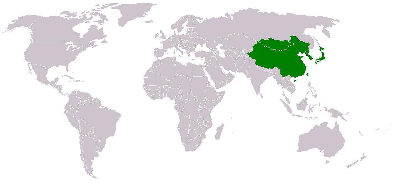 Asie de l'Est.