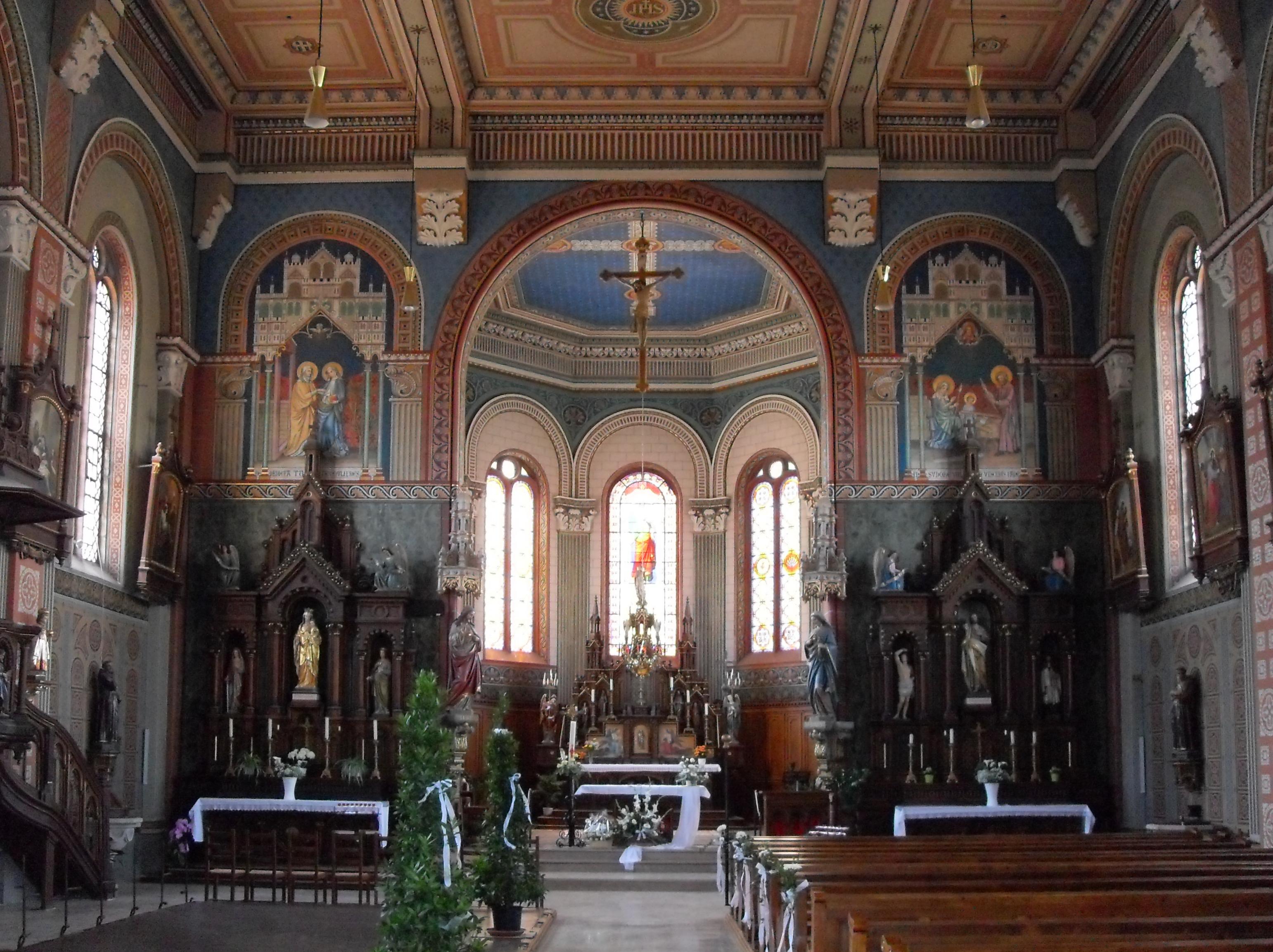File niederhergheim glise sainte lucie l 39 int for Interieur eglise