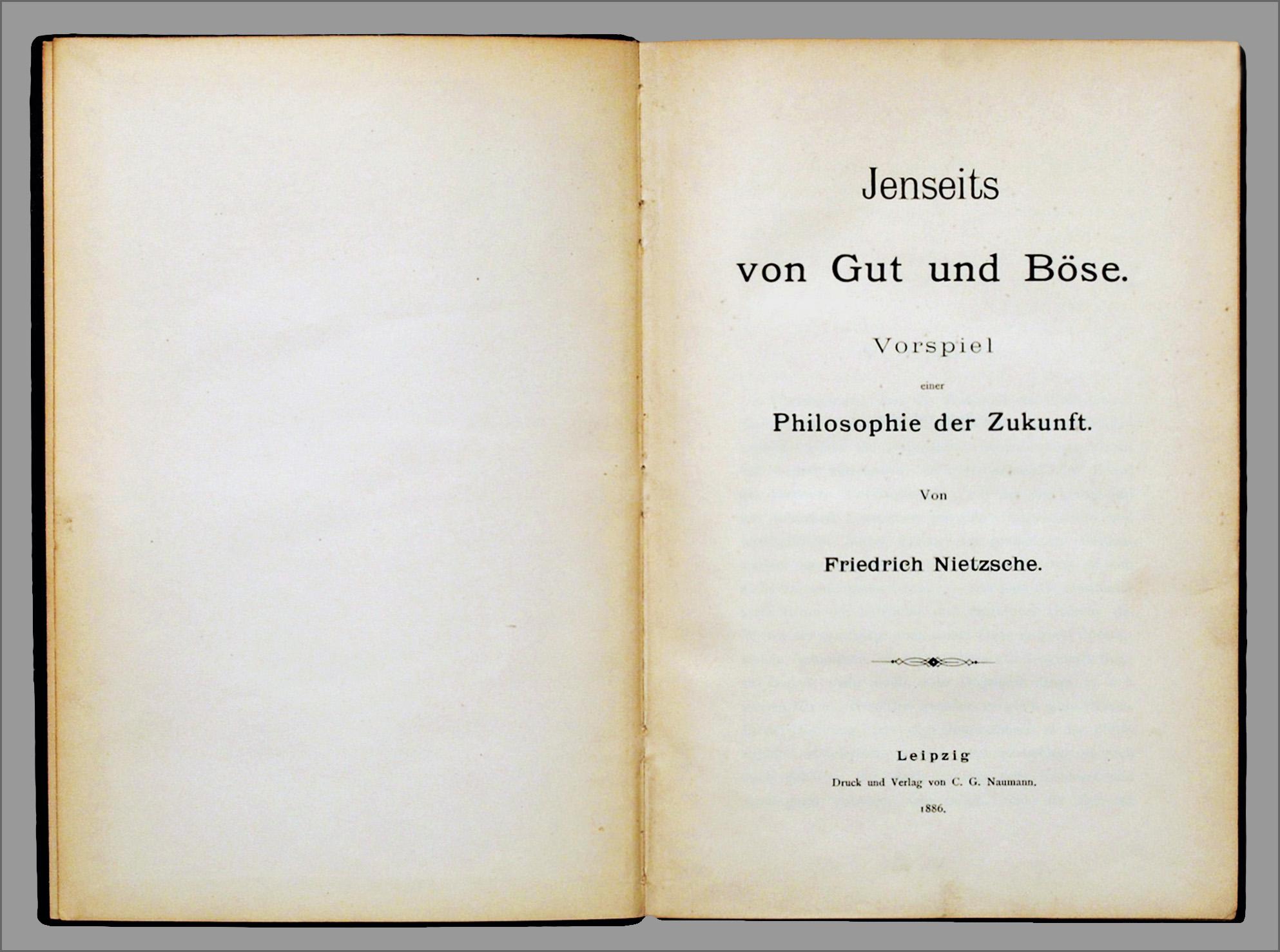Jenseits Von Gut Und Böse Nietzsche Wikipedia