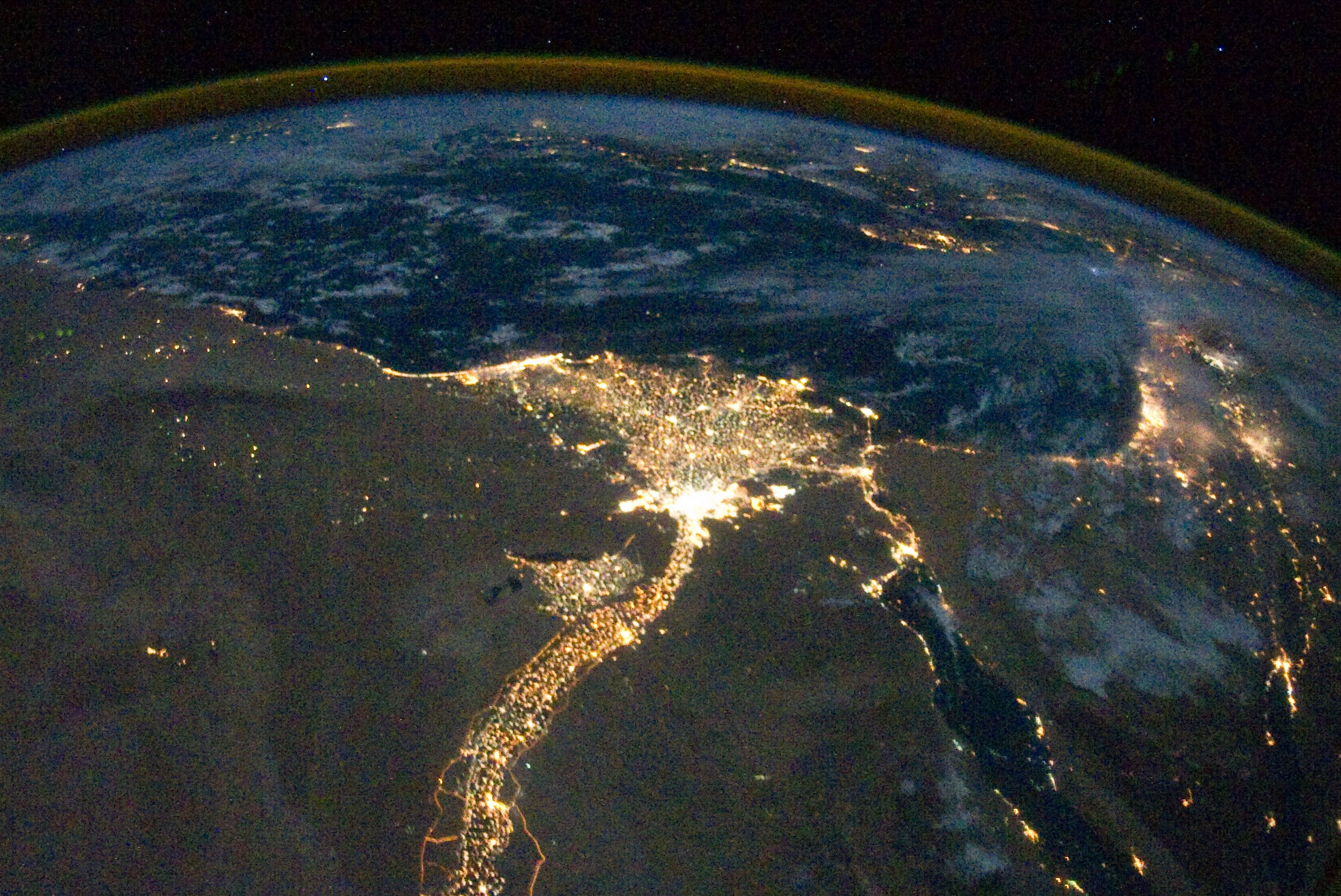 Описание nile river delta at night cropped jpg