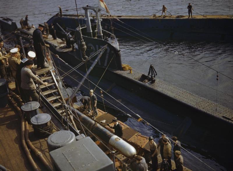 On Board the Submarine Depot Ship HMS Forth, Holy Loch, Scotland, 1942 TR526