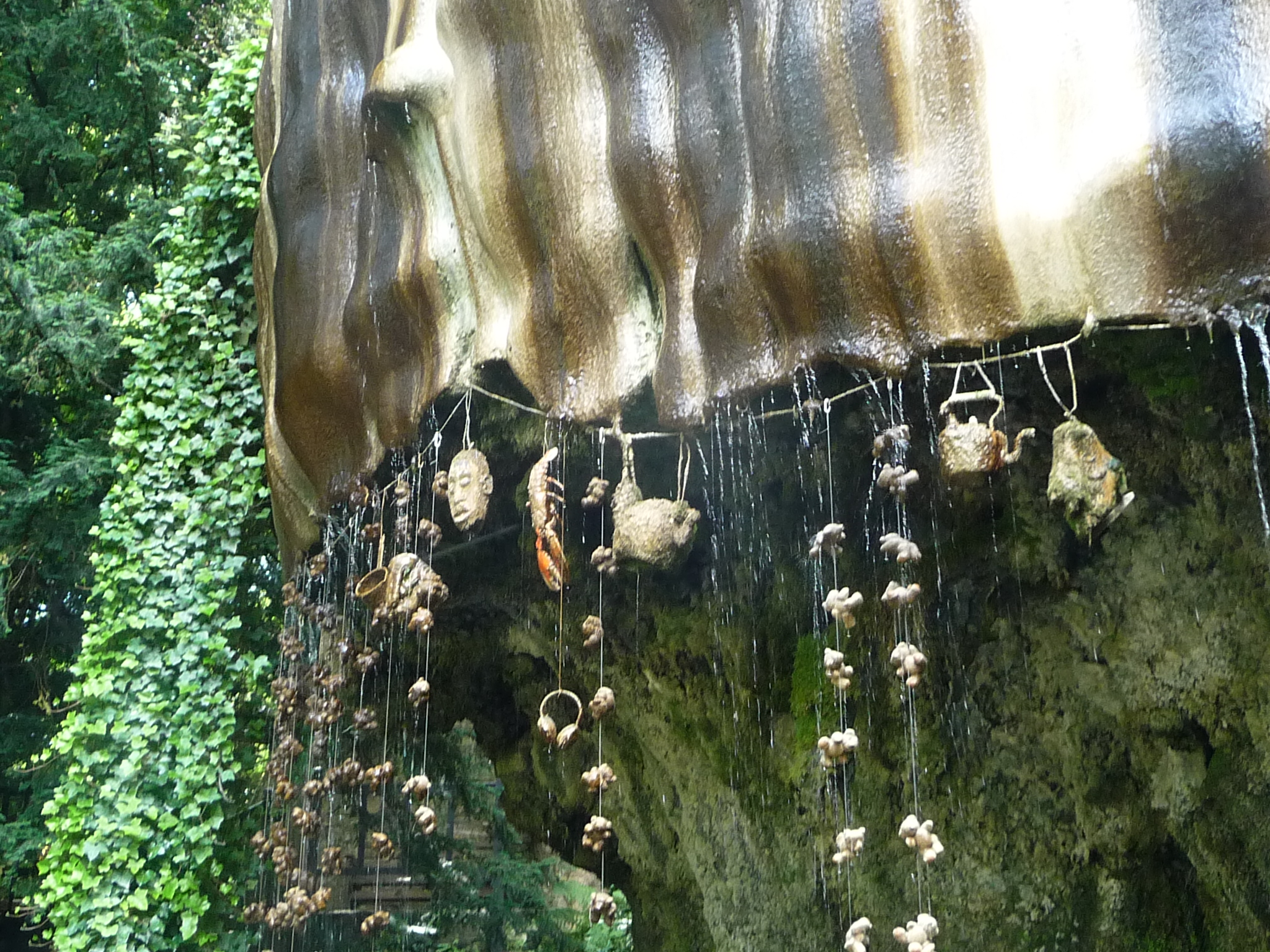 Young earth fossils under a waterfall