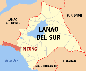 Map of Lanao del Sur showing the location of Picong