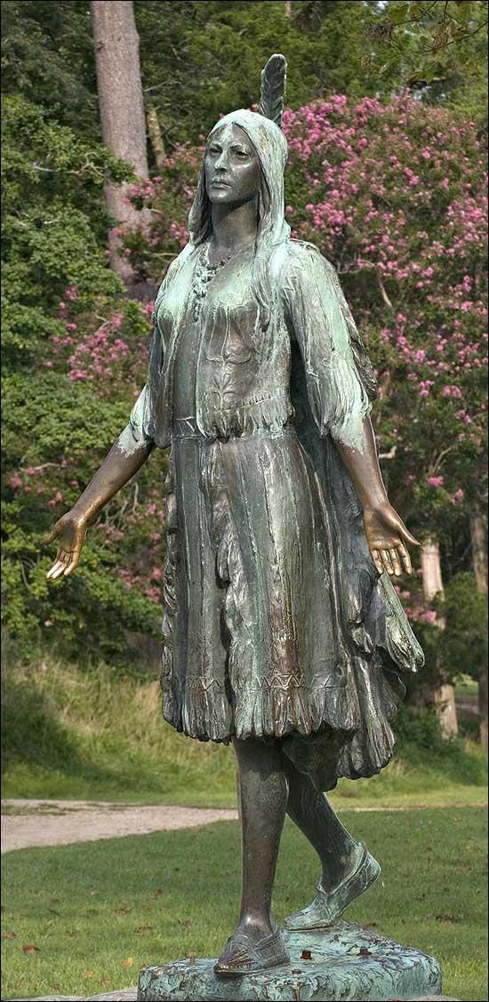 Pocahontas statue, Jamestown, VA