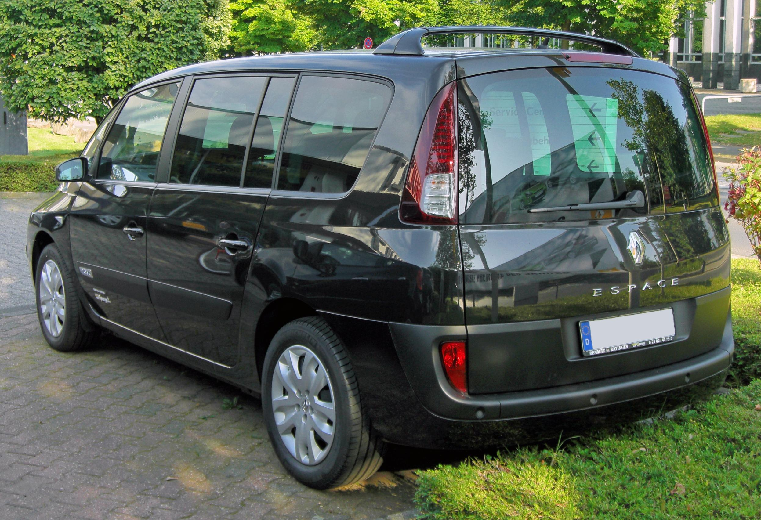file renault espace iv facelift 20090801 rear jpg wikimedia commons. Black Bedroom Furniture Sets. Home Design Ideas