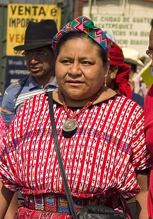 Rigoberta Menchù Tum, pacifista guatemalteca Premio Nobel per la Pace nel 1992