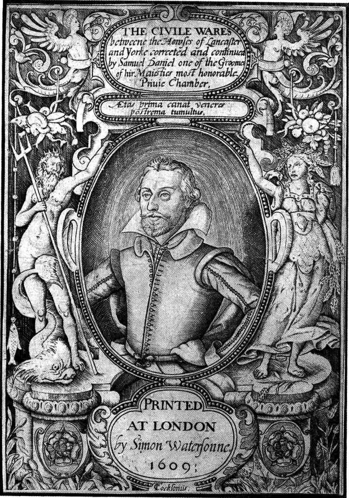 Samuel Daniel. Frontispiece engraving for ''The Civile Ware'' (1609) by [[Thomas Cockson