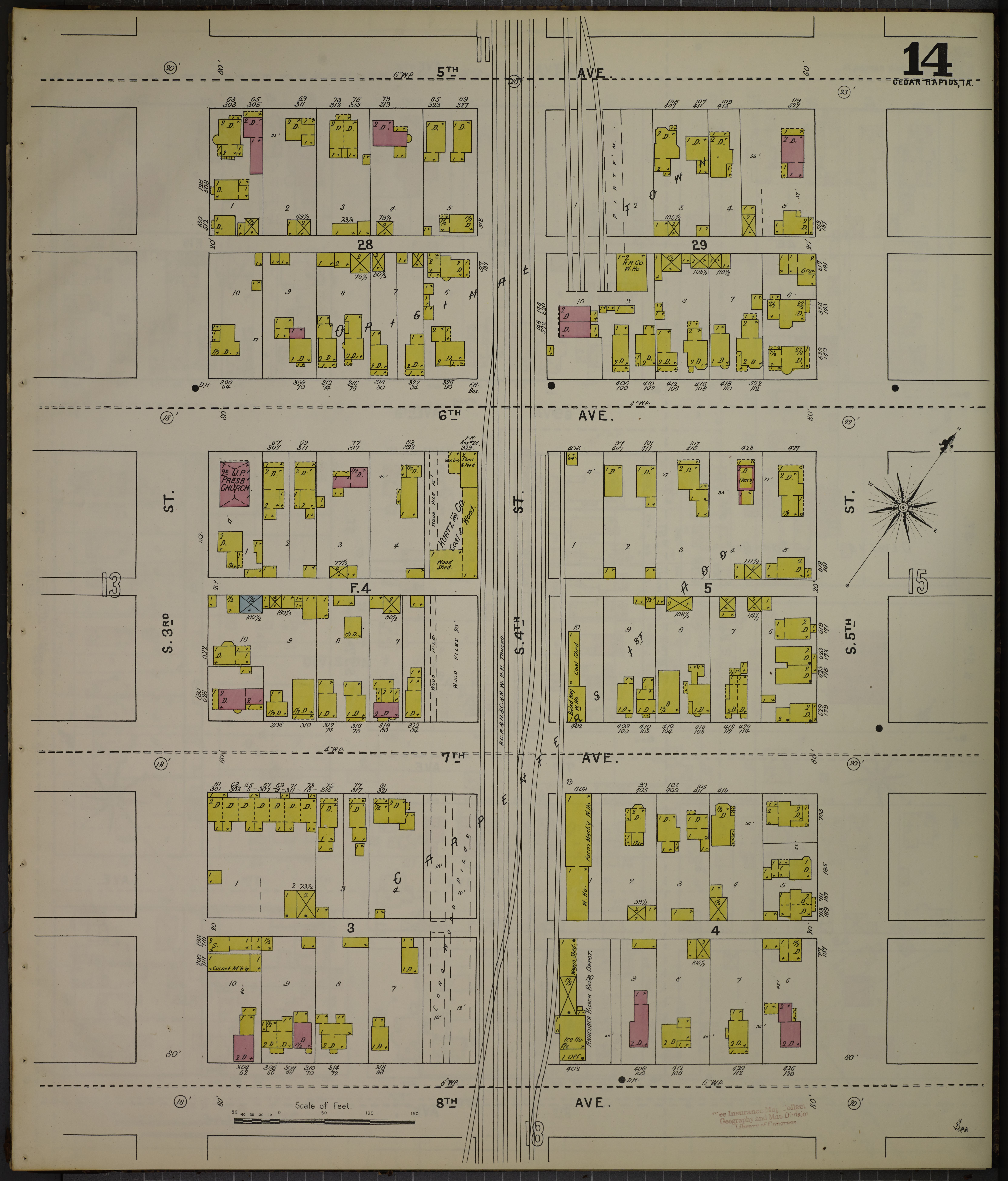 File Sanborn Fire Insurance Map From Cedar Rapids Linn County Iowa