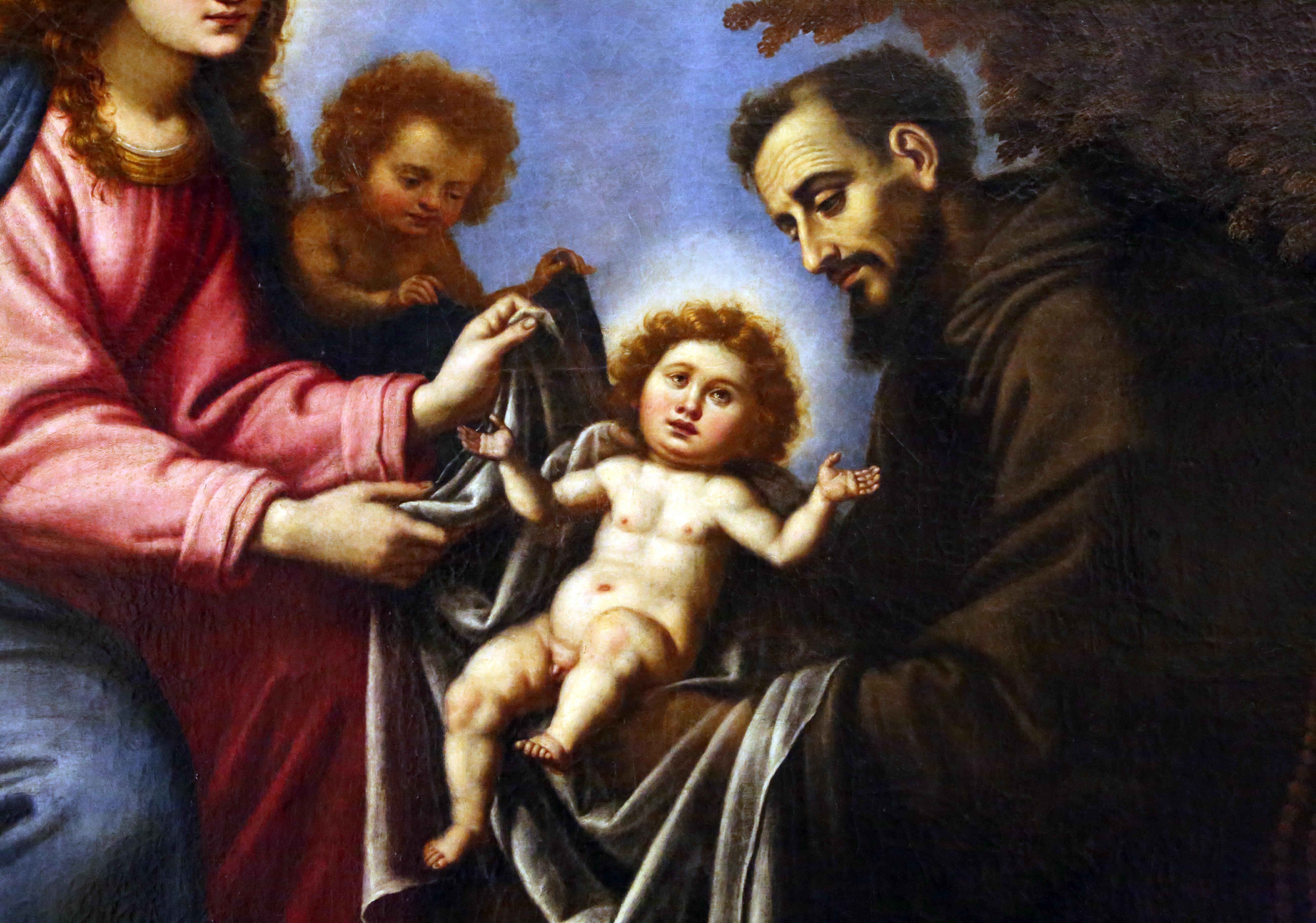 Gesu Bambino Dalla.File Scuola Del Rosselli San Francesco D Assisi Riceve Gesu Bambino Dalla Madonna 1600 50 Ca 02 Jpg Wikimedia Commons