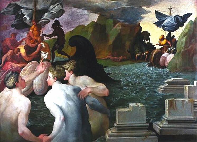 File:Sirens and Odysseus by Francesco Primaticcio.jpg