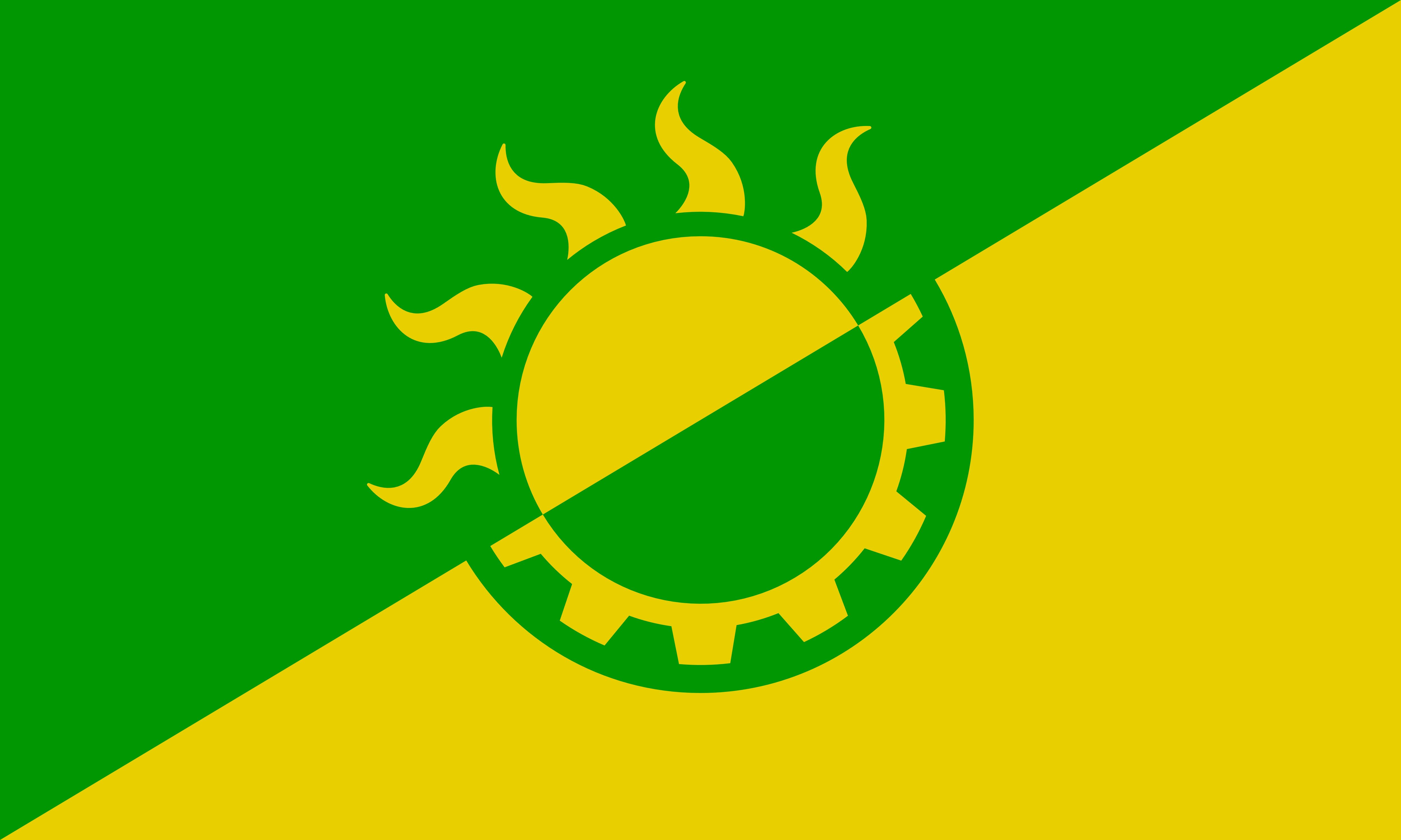 Flaga solarpunka, StarwallOfRadical.town via wikimedia commons