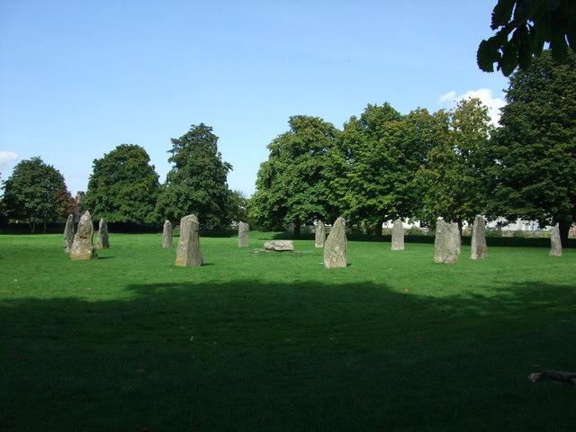 Stone Circle at Llanrwst - geograph.org.uk - 1484986