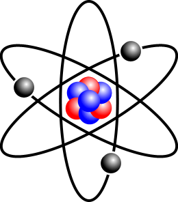 Ficheiro:Stylised atom with three Bohr model orbits and stylised nucleus.png