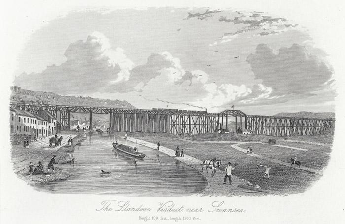 The Llandooe viaduct near Swansea: height 109 feet, lenght 1760 feet
