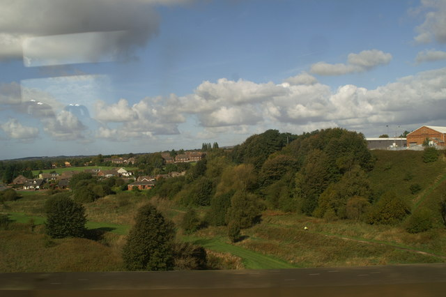 The view of the Sankey Valley from Stephenson's Viaduct, as seen from the 12.01 from Newton-le-Willows - geograph.org.uk - 1526571