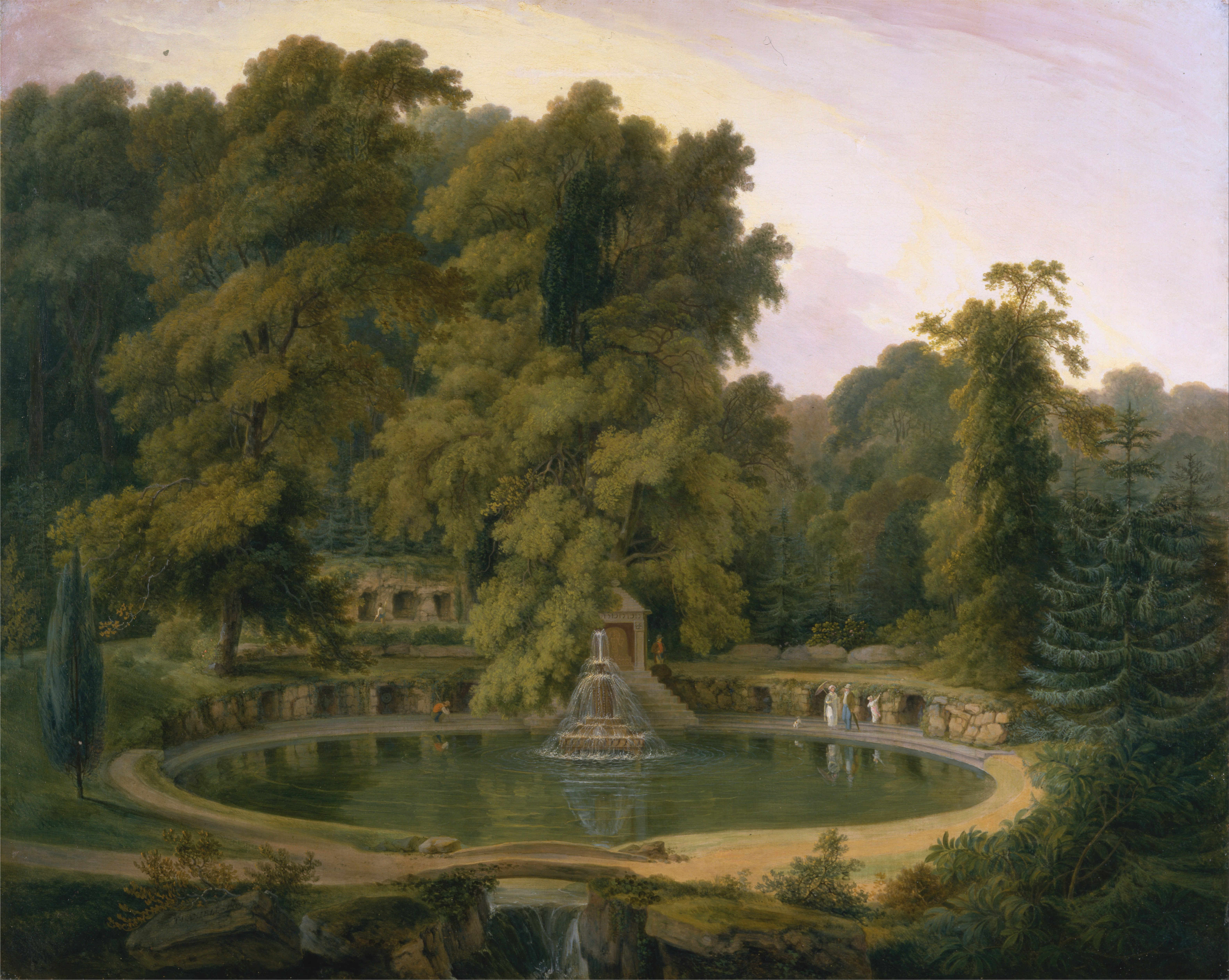 File Thomas Daniell Temple Fountain And Cave In