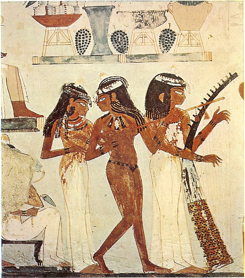File Tomb Of Nakht Three Musicians Png Wikimedia Commons