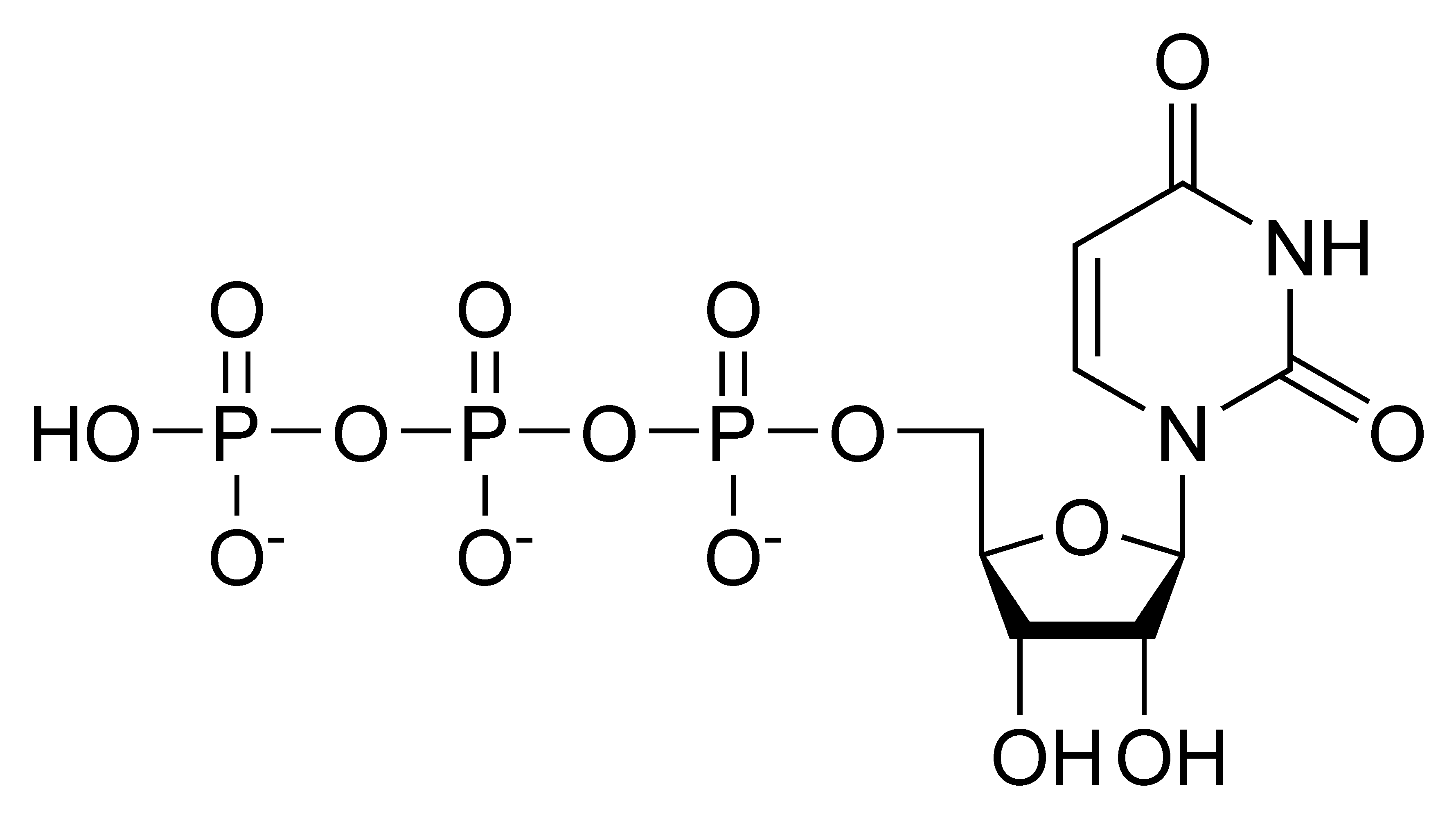 Chemical structure of uridine triphosphate