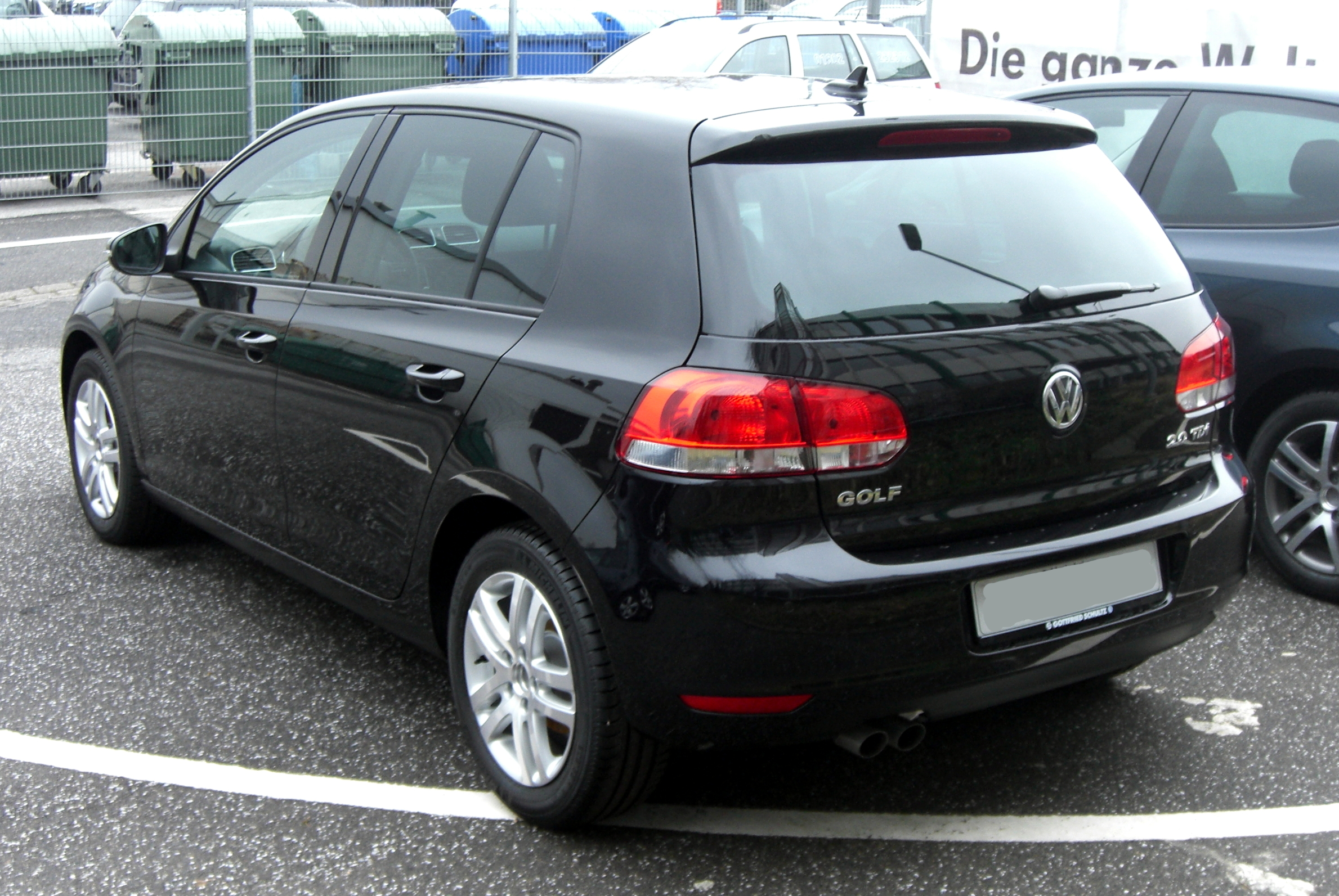 file vw golf vi rear jpg wikimedia commons. Black Bedroom Furniture Sets. Home Design Ideas