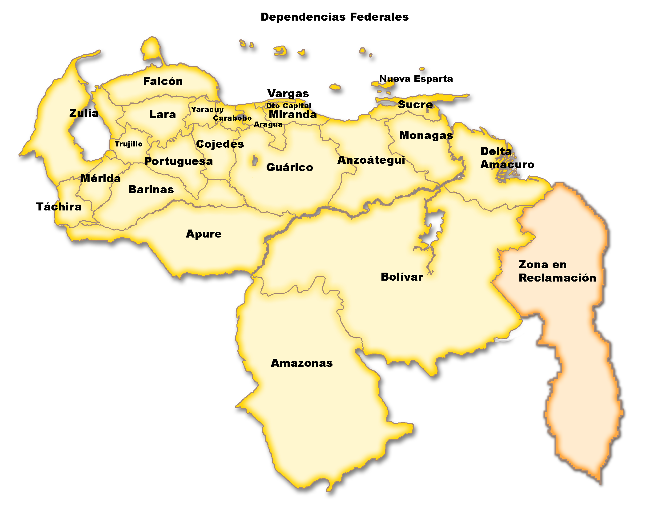 地図 ベネズエラ