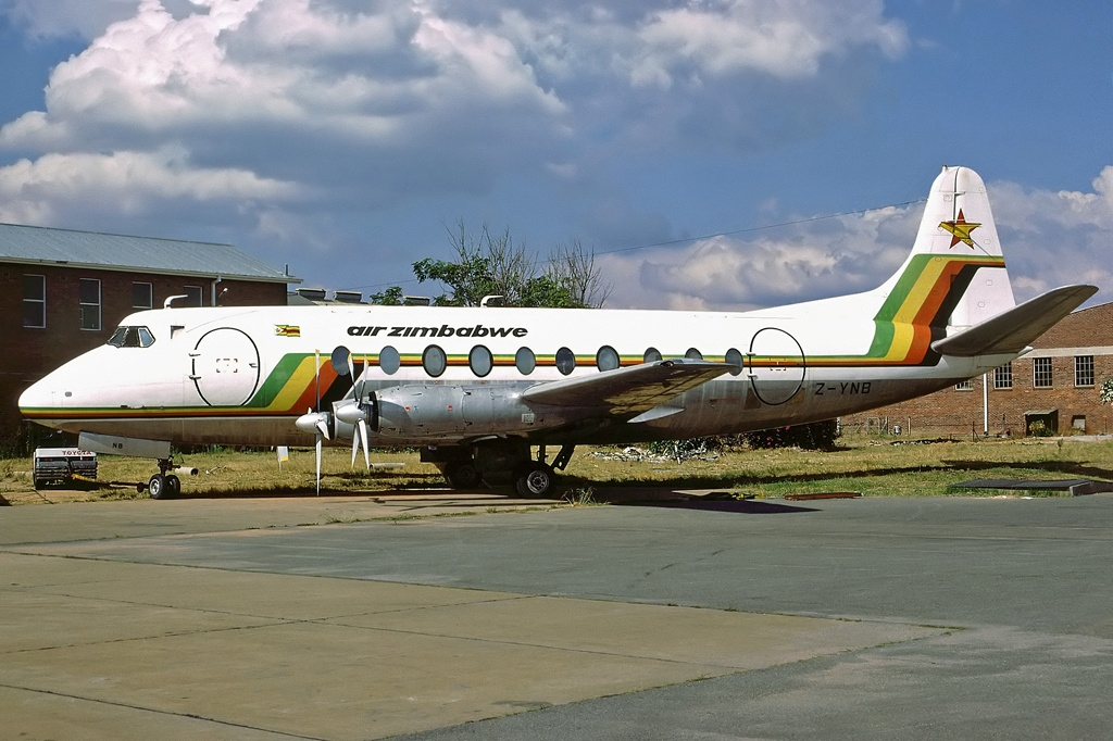 C D Tires >> File:Vickers 748D Viscount, Air Zimbabwe AN2045678.jpg - Wikimedia Commons
