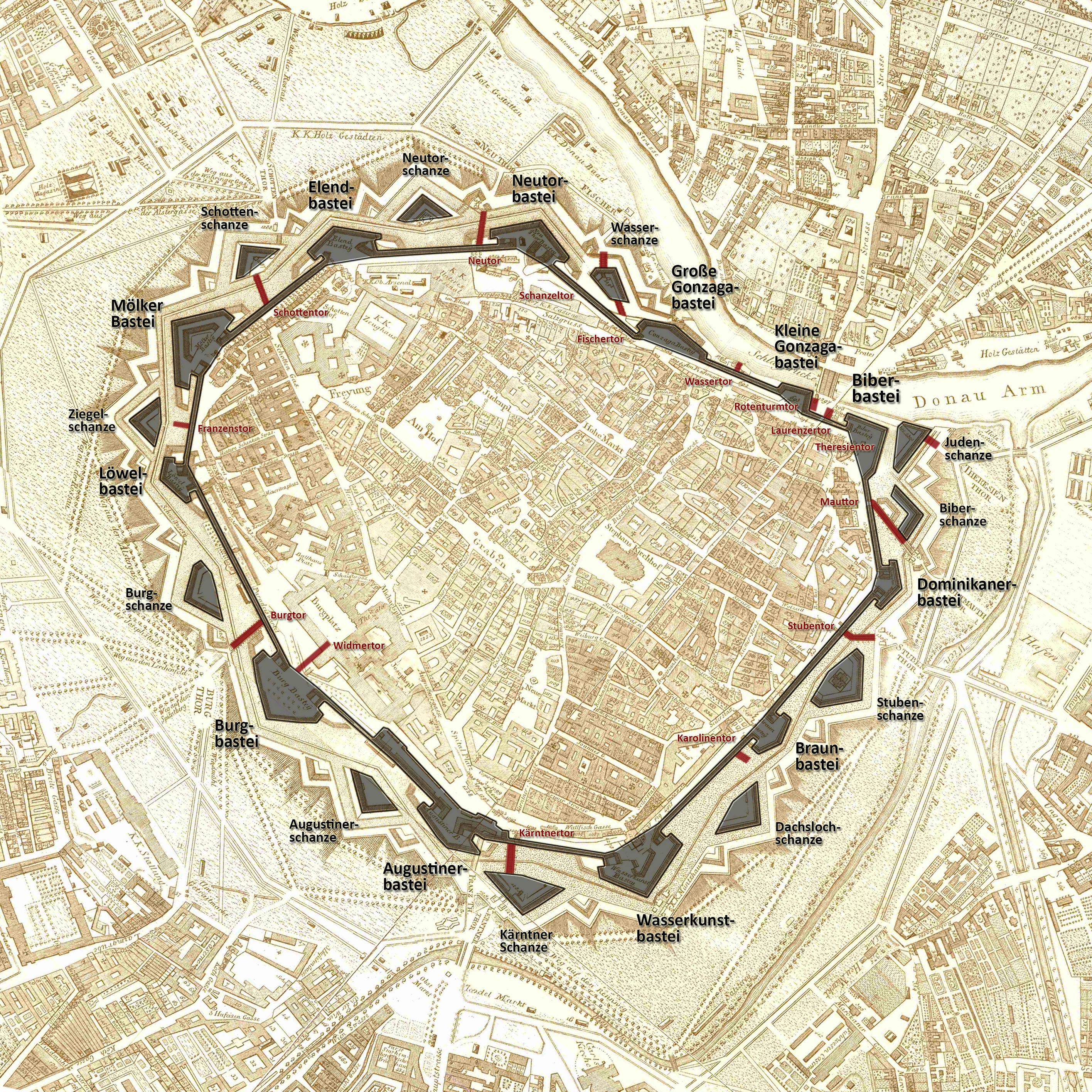 Wien Stadtbefestigung Degen 1809 Gugerell.jpg