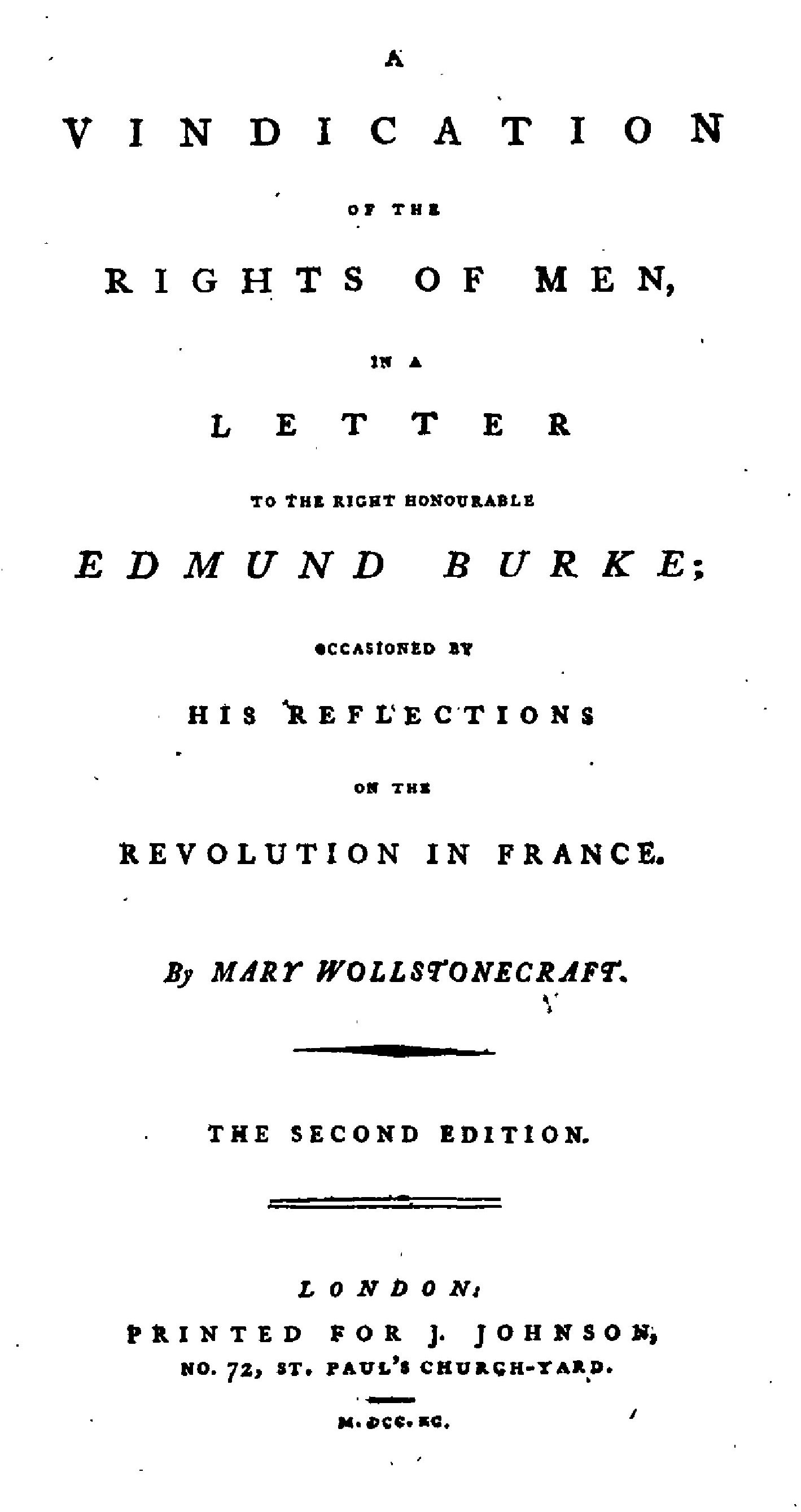 a vindication of the rights of men by wollstonecraft a vindication of the rights of men by wollstonecraft advertisement regency writings repository