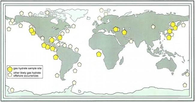 نقشه پراکندگی گلفشان ها در جهان