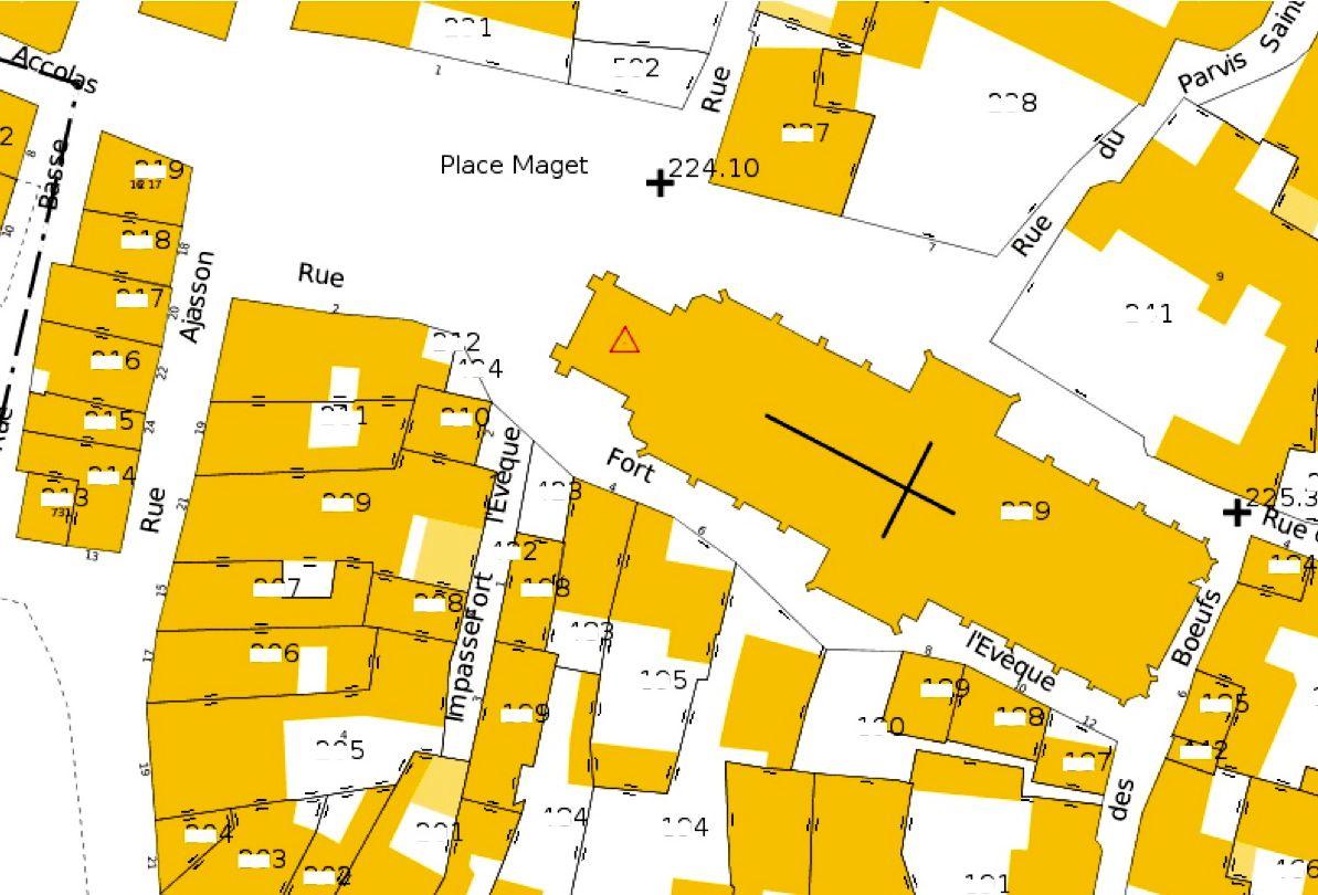 Plan Cadastral De La Ville Aux Dames