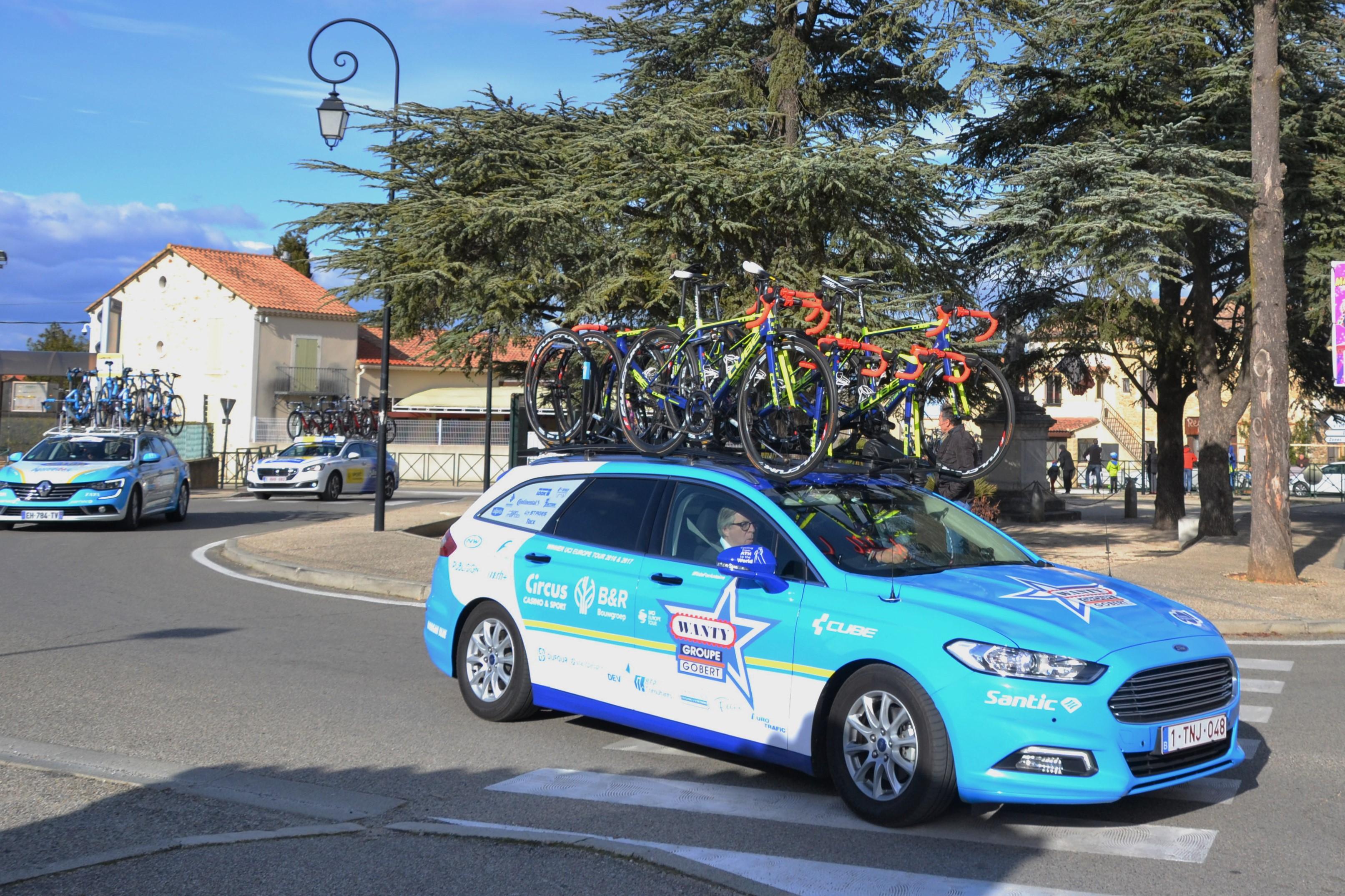 File Étoile de Bessèges 2018 - étape 4 - St Laurent des Arbres - véhicule Wanty  Groupe Gobert.jpg 49ad17158