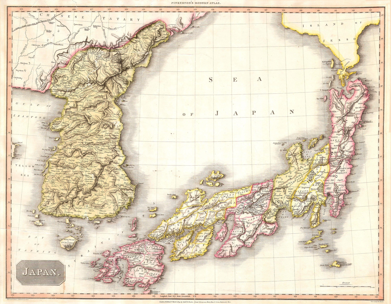 File 1809 Pinkerton Map Of Korea Japan Geographicus Japankorea