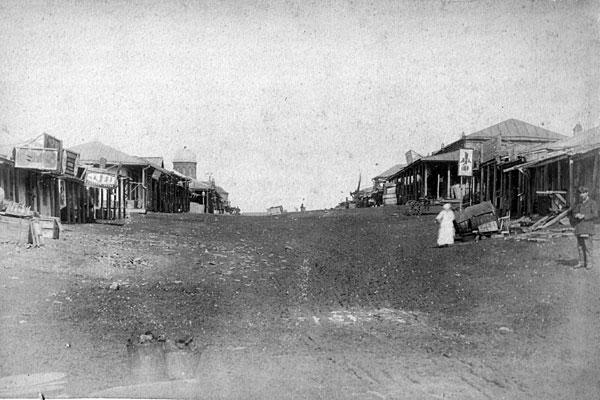 Новый свет. Базар. Главная улица; фото 1887 года