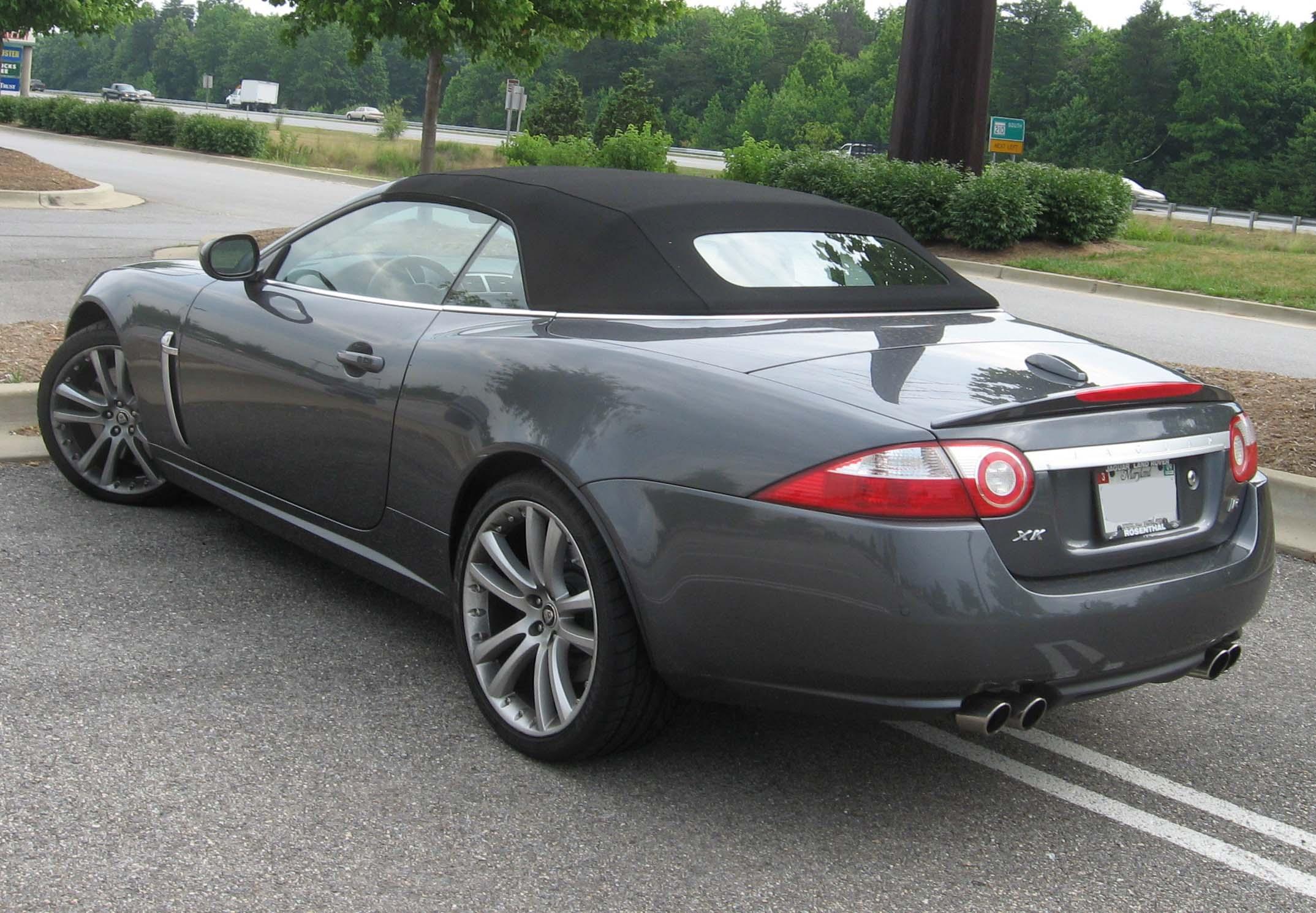 File:2007 Jaguar XKR Convertible Rear