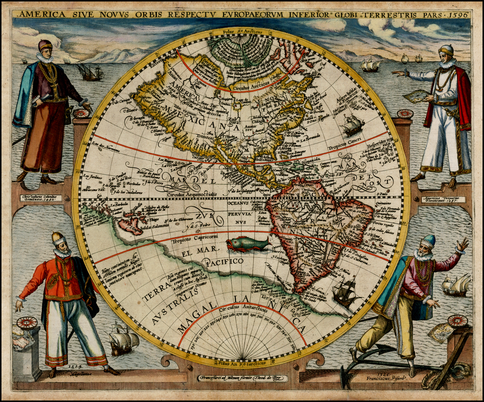 File:America or the New World map by Theodor de Bry 1596.jpg