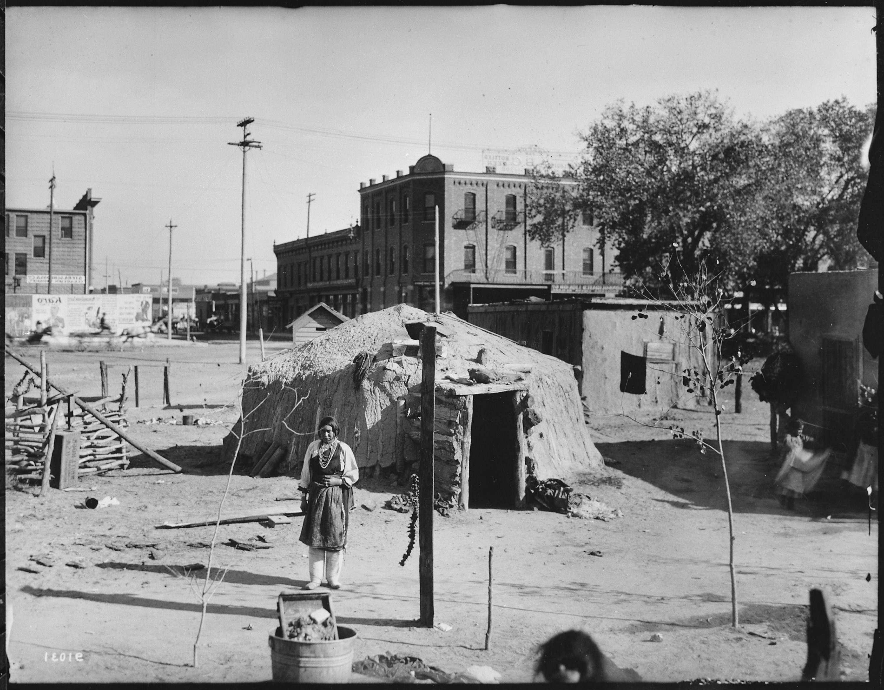 nm history Aztec was the place where children played on the wooden board sidewalks trying to avoid stepping in a crack (doing so 'would break mother's back.