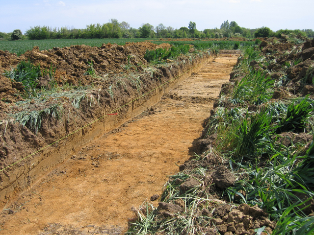 Ejemplo de trinchera arqueológica