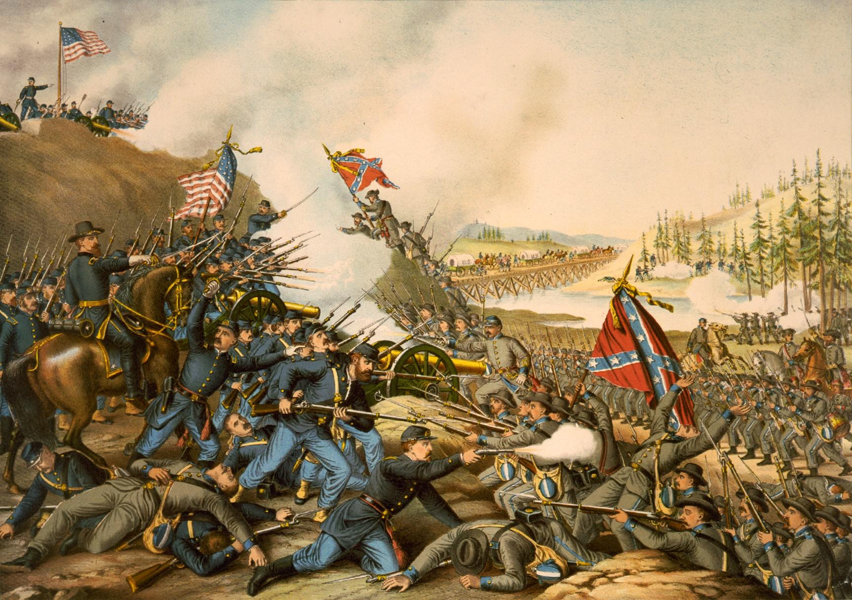 File battle of franklin ii wikimedia commons for Define mural art