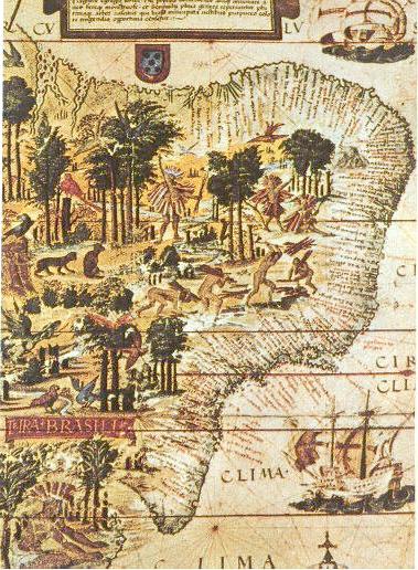 Colonização do Brasil Brazil-16-map