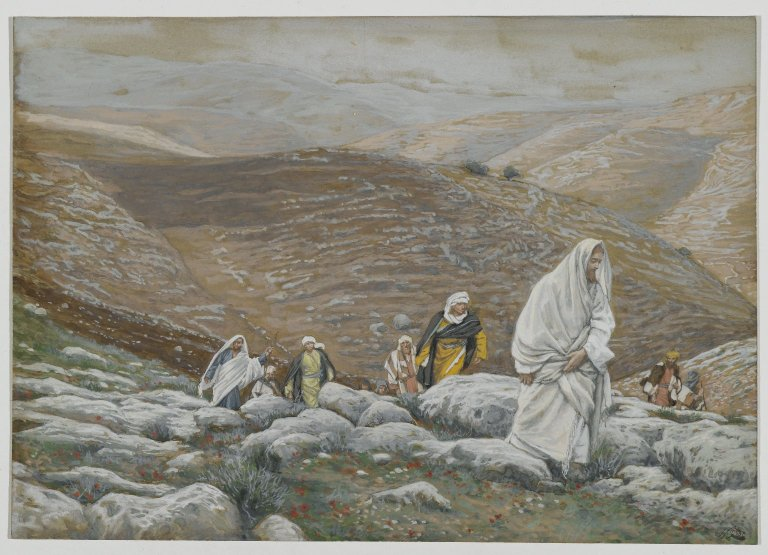 Brooklyn Museum - With Passover Approaching, Jesus Goes Up to Jerusalem - James Tissot - overall