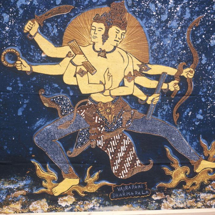 File collectie tropenmuseum batik doek met een afbeelding van vajrapani dharmapala tmnr 20018446 - Doek doek ...