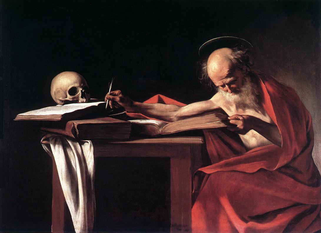 Caravaggio - Saint Jerome Writing, c1606.jpg