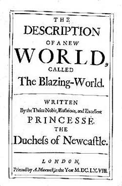 Title page of The Blazing World