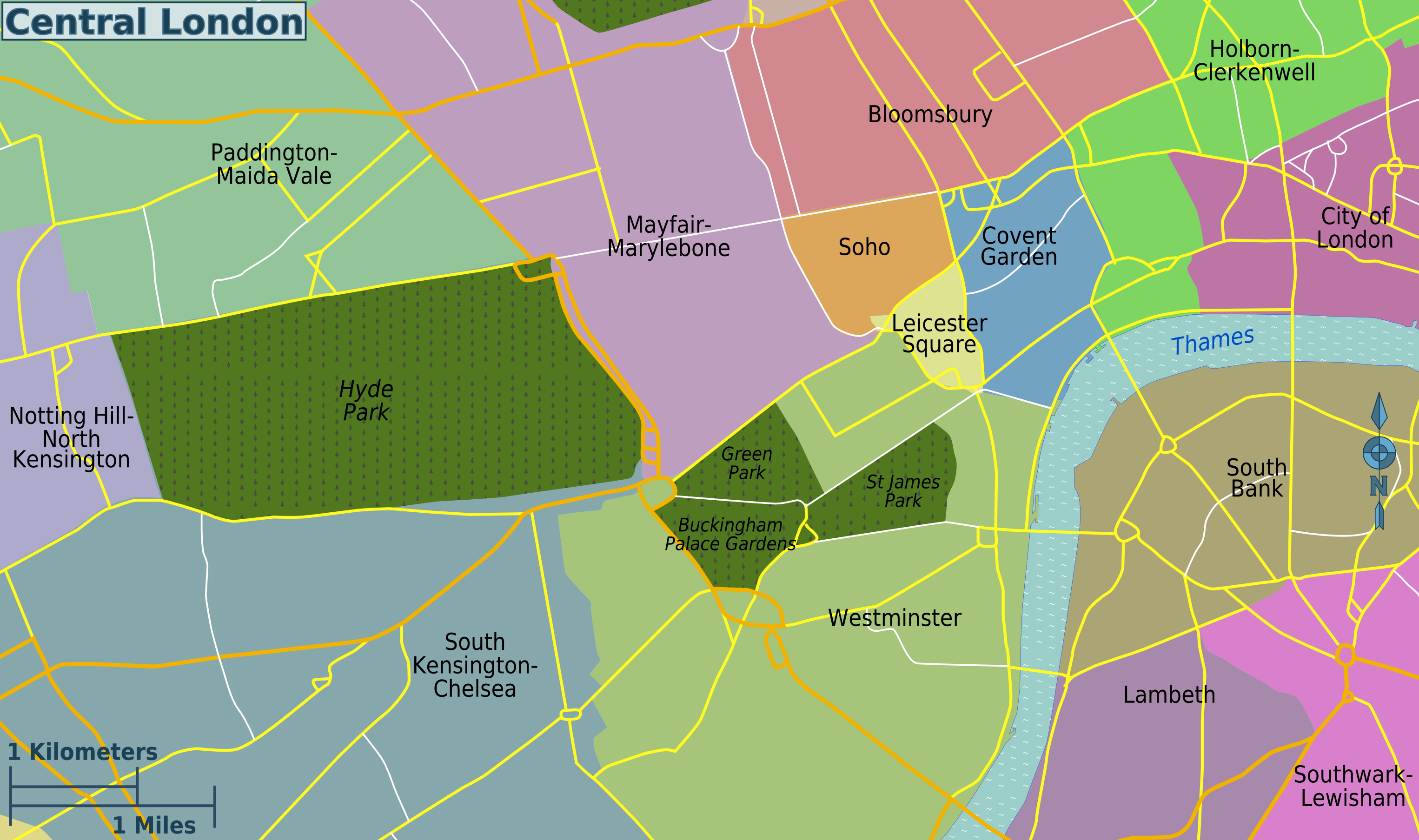 London Map Districts.File Central London Districts Map Png Wikimedia Commons