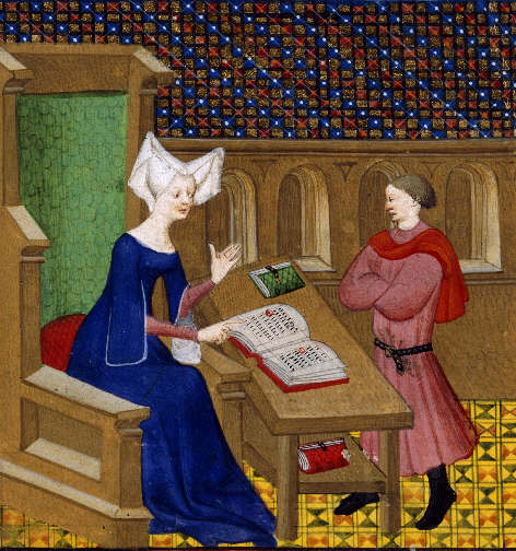 http://upload.wikimedia.org/wikipedia/commons/2/20/Christine_de_Pisan_and_her_son.jpg