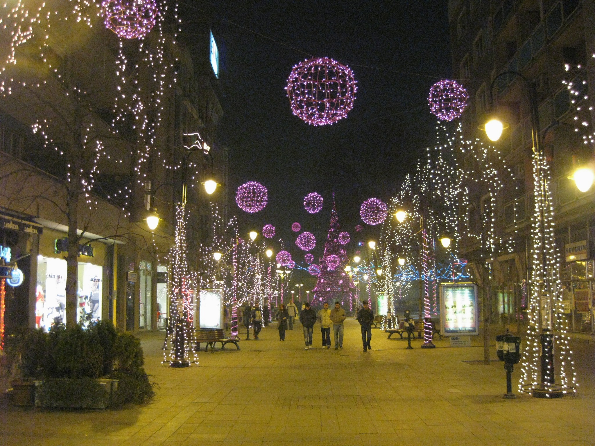 File Christmas Lights In Skopje  Macedonia  January 1st