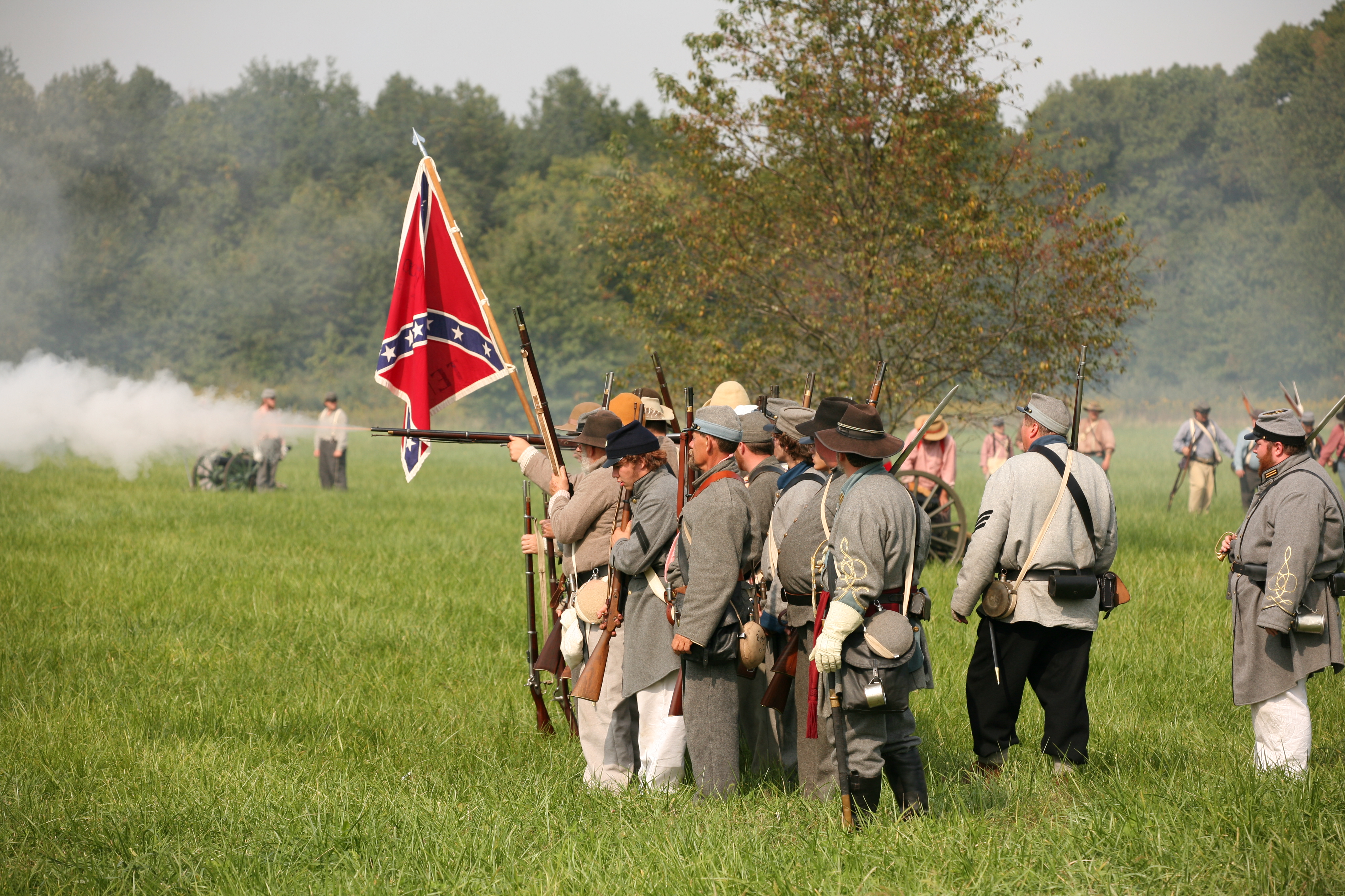 Description Civil war reenactment 1.jpg