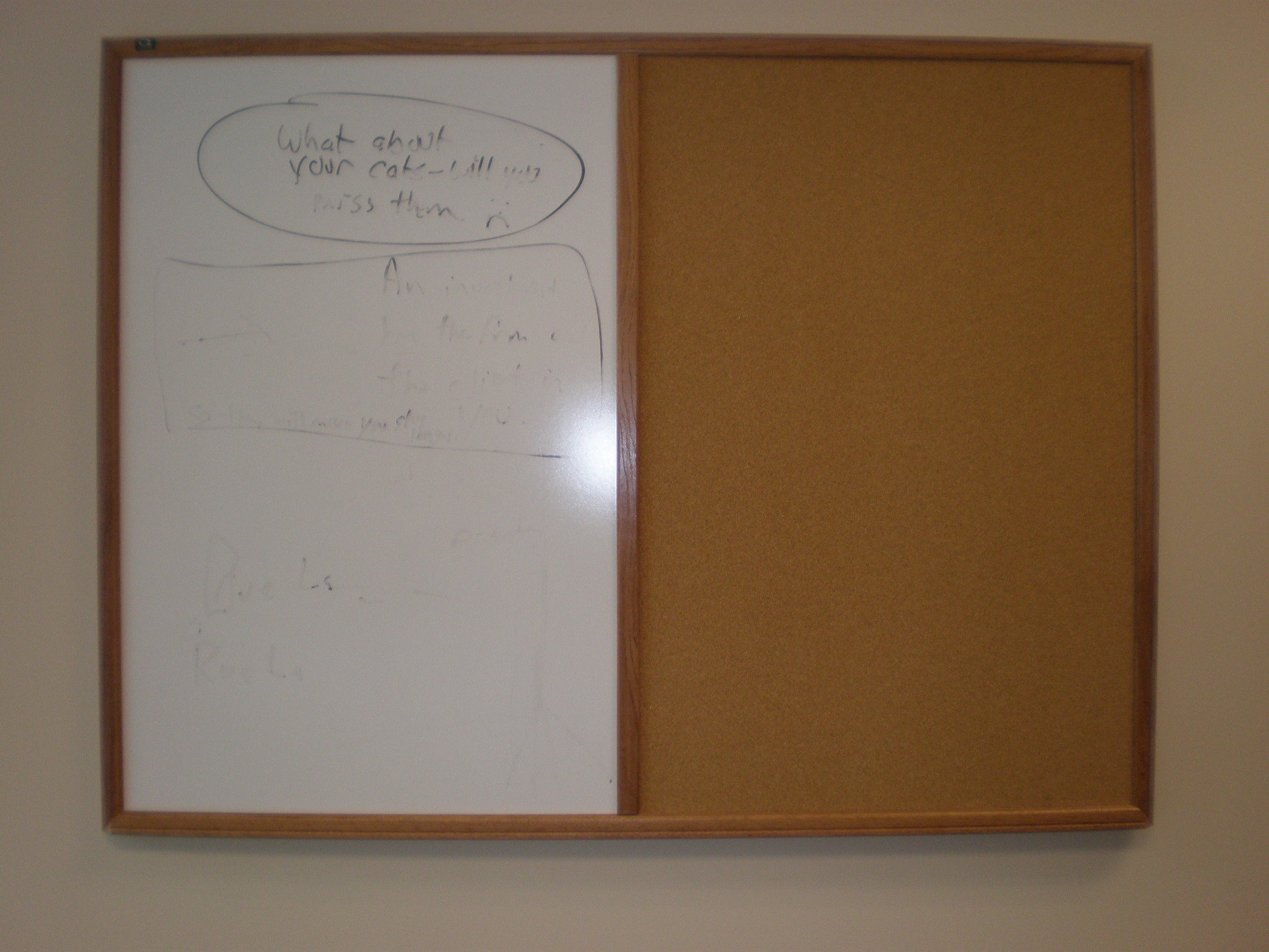 Bulletin Board Whiteboard Combo