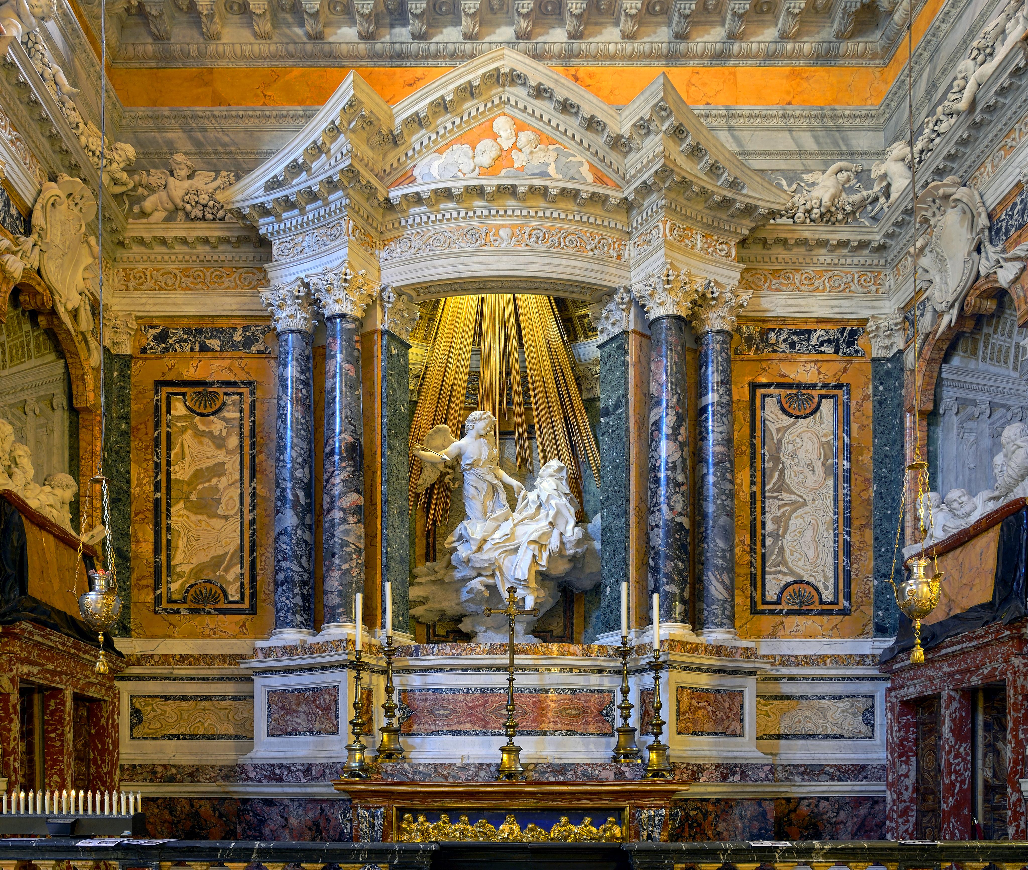 File Cornaro Chapel In Santa Maria Della Vittoria In Rome Hdr Jpg