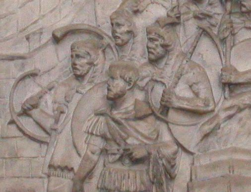 Cornicens on Trajan's column