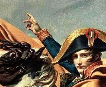 Detail of the gesture in the Malmaison version. David - Napoleon crossing the Alps - Malmaison1 detail2.jpg
